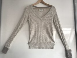 American Eagle Outfitters V-Neck Sweater oatmeal-cream