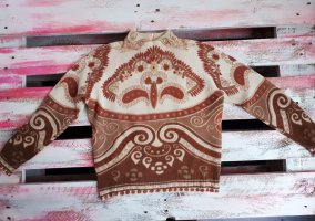 Vintage Wollen trui veelkleurig