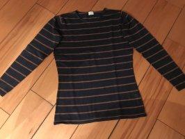 Alba Moda Sweter z okrągłym dekoltem ciemnoniebieski-brązowy