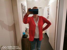 Maglione lavorato a maglia rosso