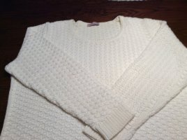 Coarse Knitted Sweater natural white cotton