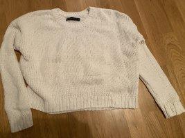 Fishbone Wool Sweater natural white