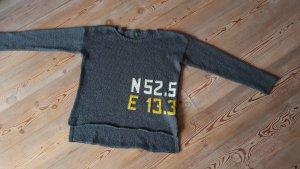 Benetton Pull en laine gris foncé