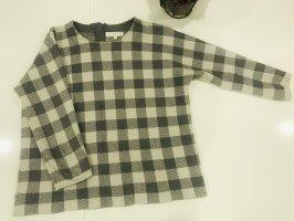 Bluoltre Wełniany sweter szary-jasnoszary