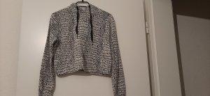 Hooded Sweater white-black