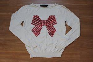 Vero Moda Sudadera navideña rojo-blanco puro Algodón
