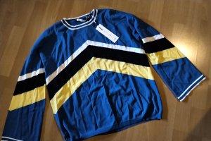 Aaiko Sweter z okrągłym dekoltem żółty-niebieski
