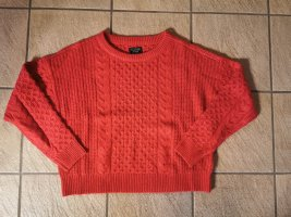 Abercrombie & Fitch Knitted Sweater brick red