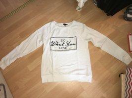 Pullover Amisu crèmefarben in Größe S
