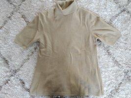Benetton Pull-over à col roulé beige laine