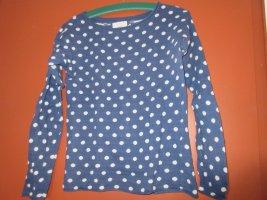 Pullover blau-weiß-gepunktet