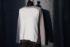Pull tricoté multicolore