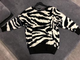 Fleece Jumper white-black