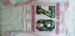 Philipp Plein Camicia lunga bianco-rosa pallido