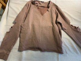 Pullover Cut-Offs Ausschnitt und Ellbogen