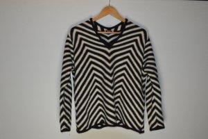 Pullover Damen schwarz weiß Olsen Gr. L Wollmix