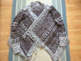 Vero Moda Cache-cœur en tricot blanc-bordeau acrylique