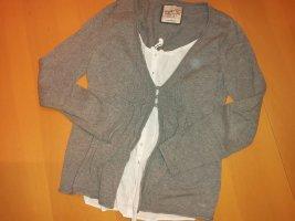 Esprit Maglione twin set bianco-marrone chiaro