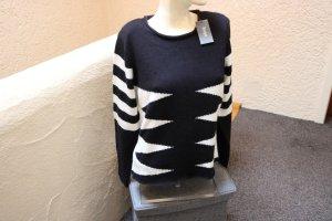 #Pullover, Gr. S, #schwarz-weiß, #Hajo, #mit Wolle, #hochwertig, #warm, #weich