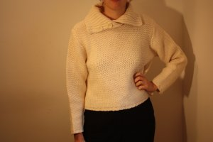 Apart Impressions Coarse Knitted Sweater natural white new wool
