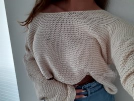 Pullover Grobstrick beige apricot M