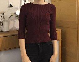 Pullover halbärmel mit gebundenen Rücken