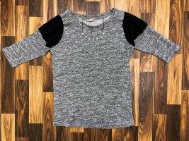 Pullover Langarmshirt Hoodie Sweatshirt Orsay Größe S grau Silber schwarz transparent Neu 29,99€