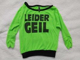 Blind Date Sweater met korte mouwen neongeel-neon groen