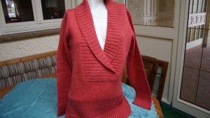 La Redoute Maglione di lana rosso mattone Acrilico