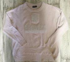 Pullover mit flauschiger Stickerei Gr. 36