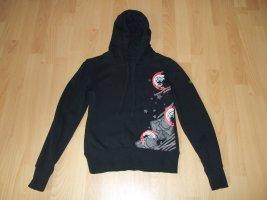 Pullover mit Kapuze von Roxy in Gr. XS 34 schwarz Hoodie Kapuzenpullover