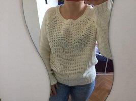 Pullover mit Löchern in beige gr S