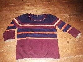 1.2.3 Paris Kraagloze sweater donkerblauw