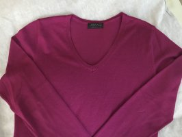 Apanage V-Neck Sweater magenta mixture fibre