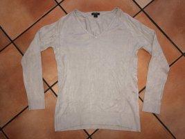 Pullover mit V-Ausschnitt, beige, Gr. M, Amisu