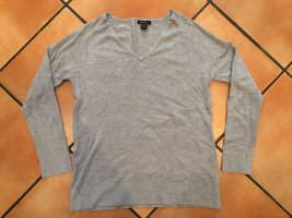 Pullover mit V-Ausschnitt, grau, Gr. M, Amisu