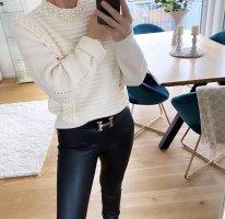 100% Fashion Jersey de cuello redondo blanco puro