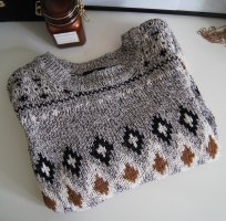 Pullover / Norweger / Muster / 3/4-Arm