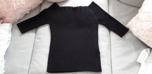 Pullover Off-Shoulder schwarz L