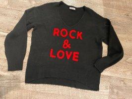 Pullover/Pulli Gr.36-42 mit V-Ausschnitt Rock & Love