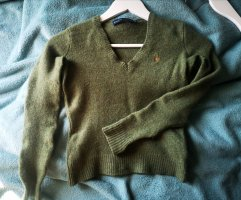 Polo Ralph Lauren Coarse Knitted Sweater lime-green-khaki wool