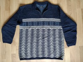 redgreen Norwegian Sweater oatmeal-dark blue wool