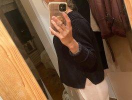 Pullover schwarz Rippenstrick