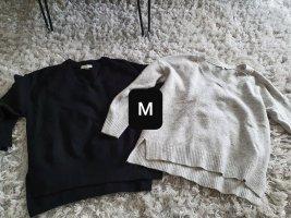 Pullover Set Grösse M grau schwarz