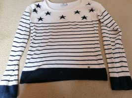 AJC Crewneck Sweater white-dark blue