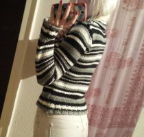 Pullover Strick Rollkragen Gestreift Karo Winter Warm Blogger Trend
