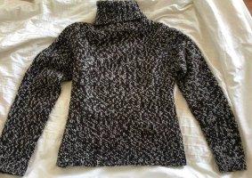Pullover Strickpullover Rollkragen gemustert braun weiss cozy Wollpullover Winter