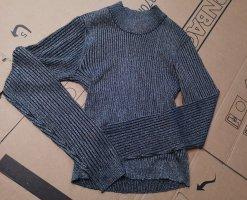 Pullover/Sweatshirt glitzernd, schwarz-blau/türkis