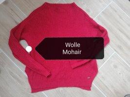 Tom Tailor Wełniany sweter ciemnoczerwony-głęboka czerwień