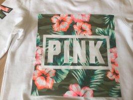 Pink Victoria's Secret Pull oversize blanc coton